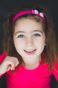 Portret fotografie jong meisje