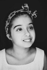 Zwart wit portret fotografie kinderen