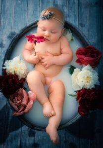 baby in melkbadje